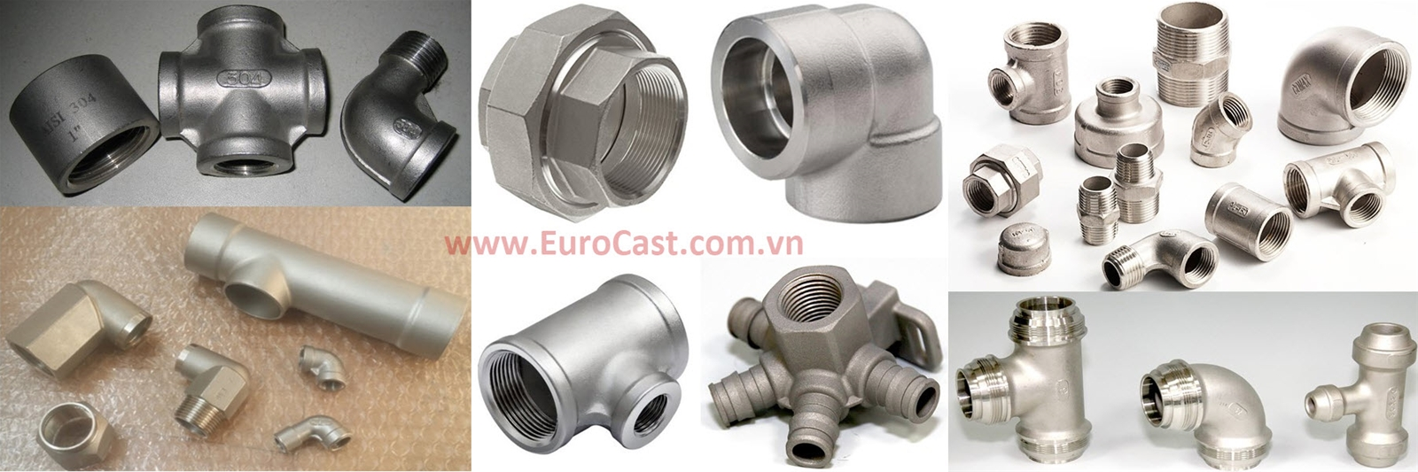 Stainless steel spare parts for pipe system