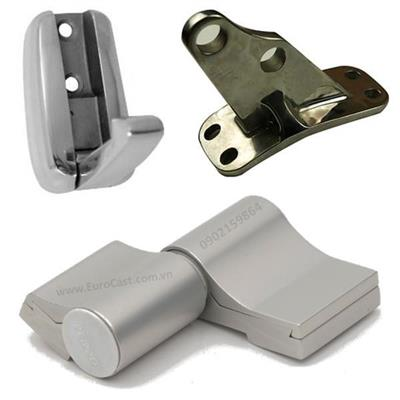 Investment casting of stainless steel hinges and hooks