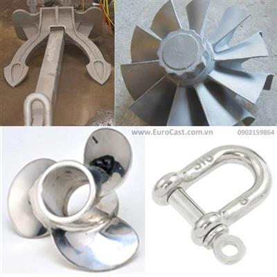 Investment casting of marine parts
