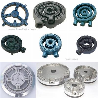 Investment casting of gas cooker components